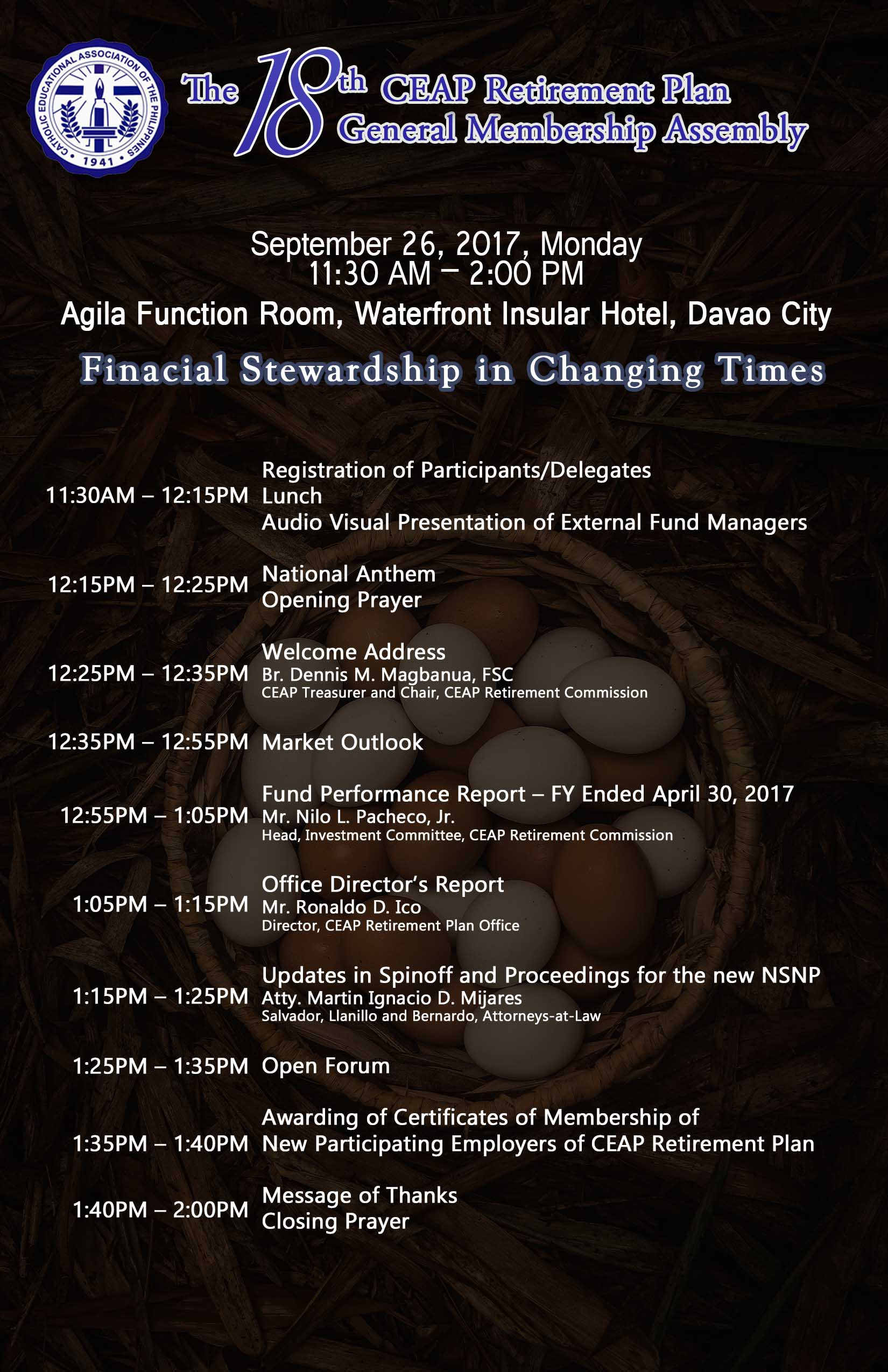 18th CEAP Retirement Plan General Membership Assembly